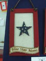 Blue Star Ornament w/one star